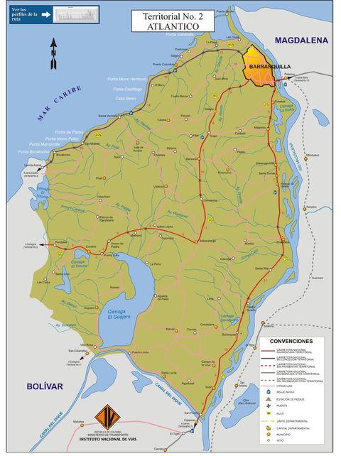 Mapa de carreteras del ...