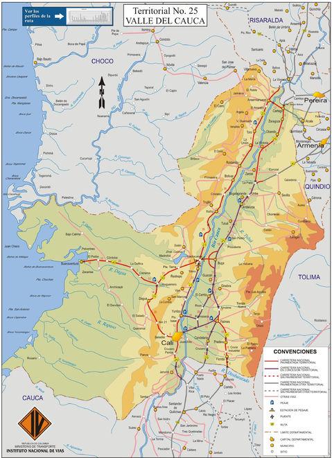 BIG-Challenge Colombia Mapa-de-carreteras-del-Valle-del-Cauca