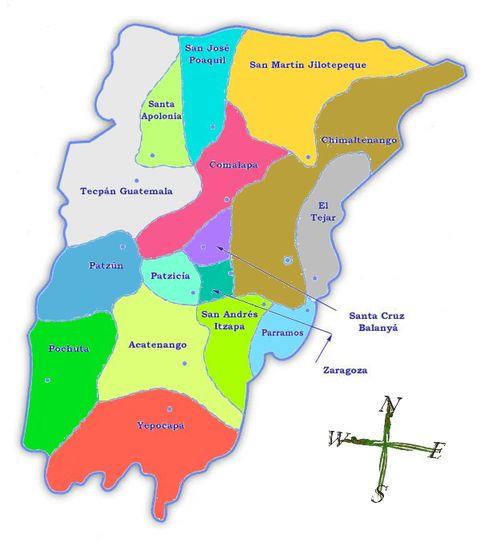 Jutiapa Guatemala Map Guatemala Map With Districts