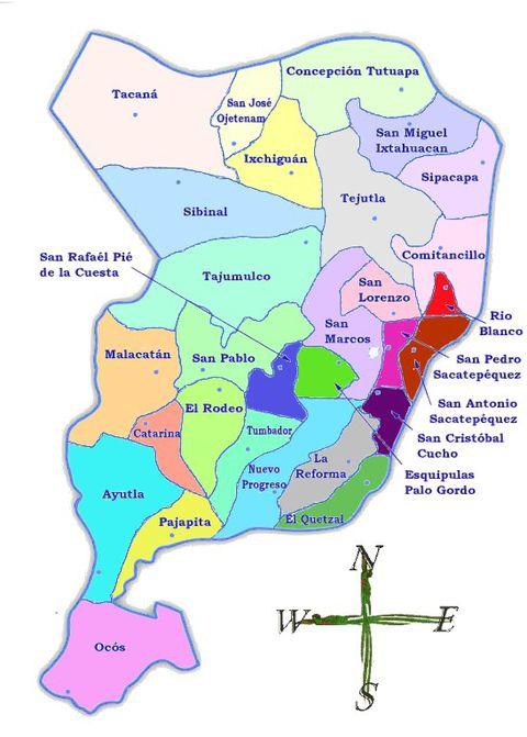 San Marcos Guatemala Map Political Map of San Marcos