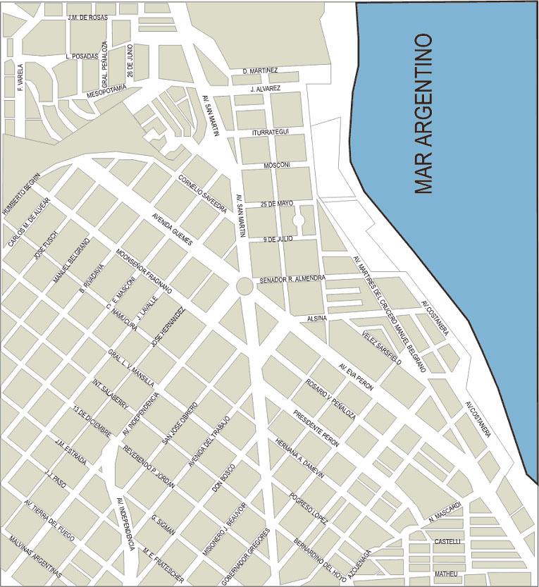 Mapa de Caleta Olivia