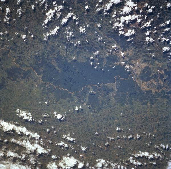 Foto, Imagem de Satélite do Rio Doce, Brasil