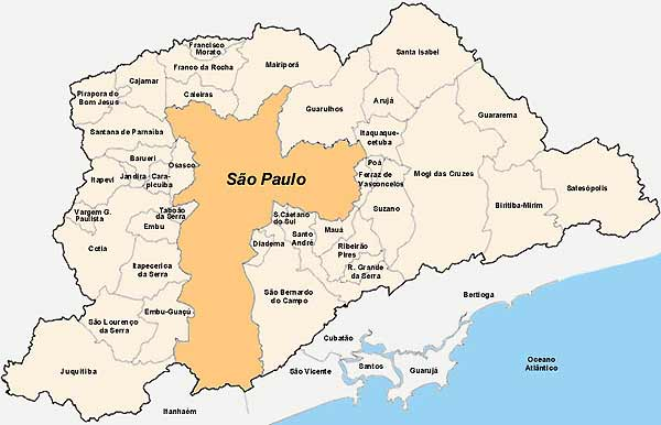 Images and Places, Pictures and Info: sao paulo map brazil
