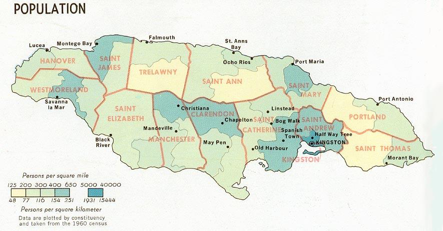 Map Of Jamaica: