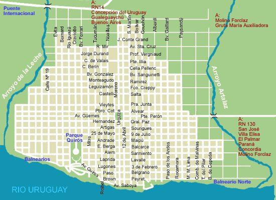 Mapa De Las Calles De Zarate Argentina