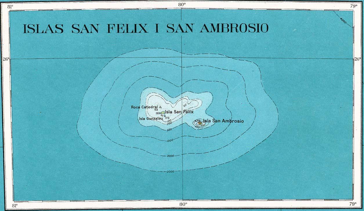 Resultado de imagem para islas san ambrosio y san félix