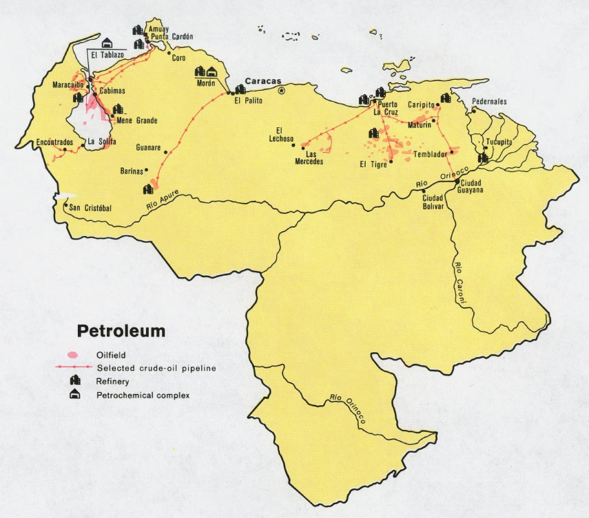 Venezuela Petroleum Map