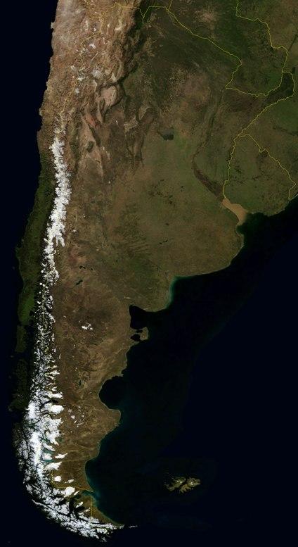 Satellite Photo, Image of Argentina
