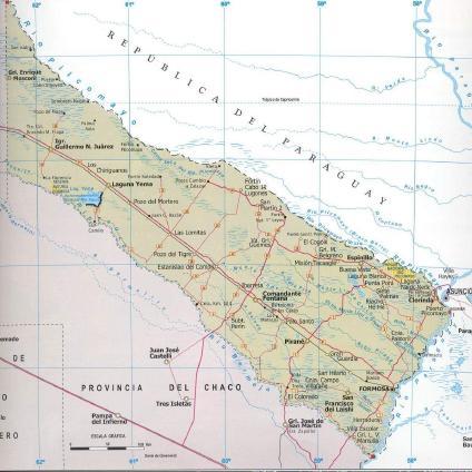 Formosa Province Map, Argentina