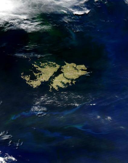 Mapas y Fotos Satelite de las Islas Malvinas (Falkland Islands)