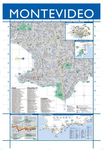 Mapa de Montevideo, Uruguay