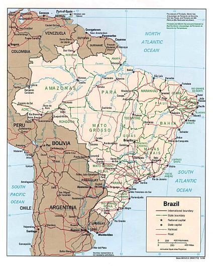 mapa do brasil. Mapa Político Brasil