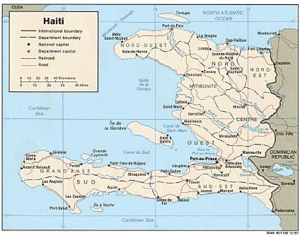 Mapa Político Haití 1987
