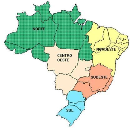 Mapas Regiões do Brasil