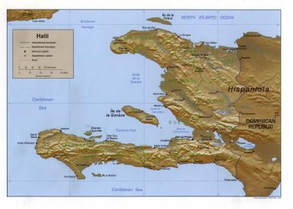 Mapa Relieve Sombreado de Haiti