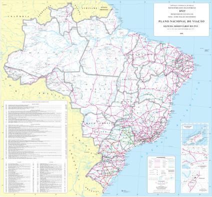 Mapa Rodoviário do Brasil