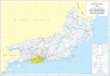 Mapa de Rodovias Estaduais e Federais do Estado do Rio de Janeiro ...