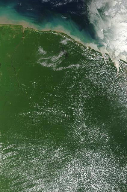 Mapas, Mapa Satelital, Foto, Imagen Satelite de la Guayana Francesa (Francia)