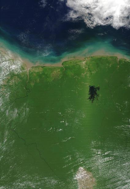 Mapas, Mapa Satelital, Foto, Imagen Satelite de Suriname, America del Sur
