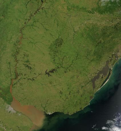 Mapas, Mapa Satelital, Foto, Imagen Satelite de Uruguay