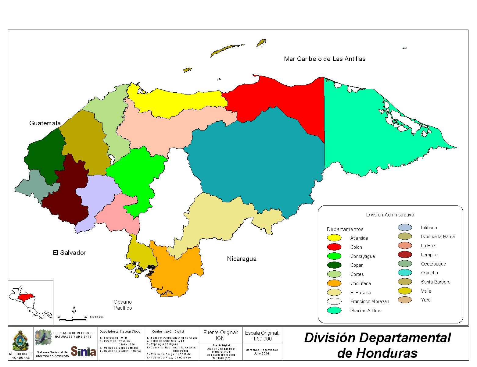 Honduras_Departments_Division_ ...
