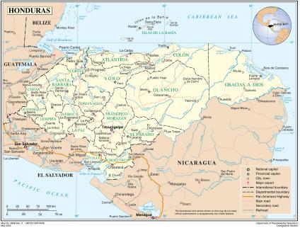 Basada en el Mapa no. 3856 Rev 3 United Nations - UN