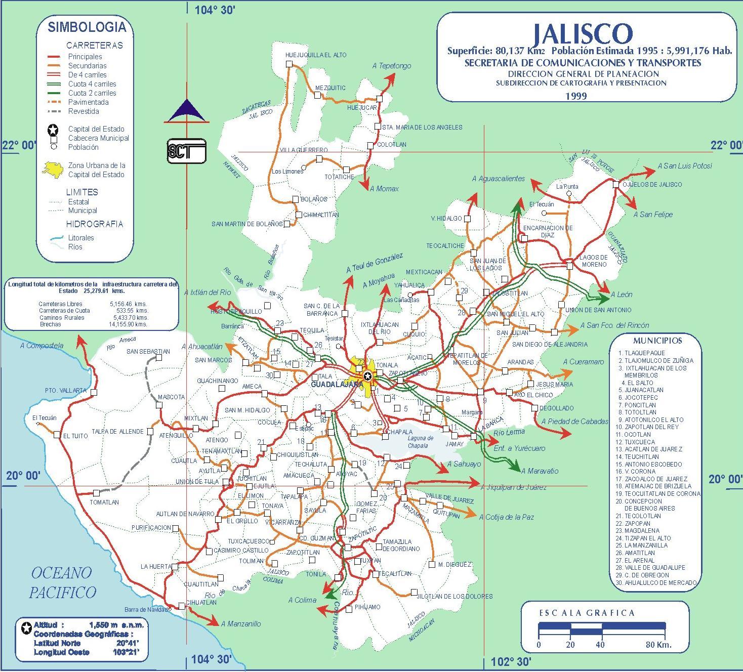 Map Jalisco