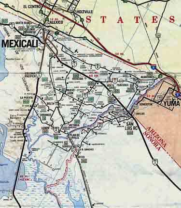 Mapa de Mexicali, Baja California, México