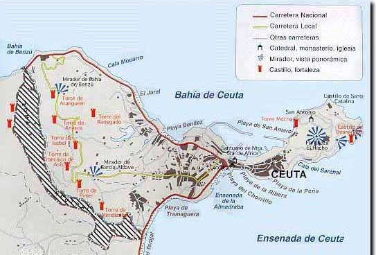 Spain Ceuta Ceuta_city_map_spain_2