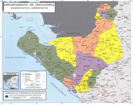 a map of nicaragua. Political Map, Nicaragua