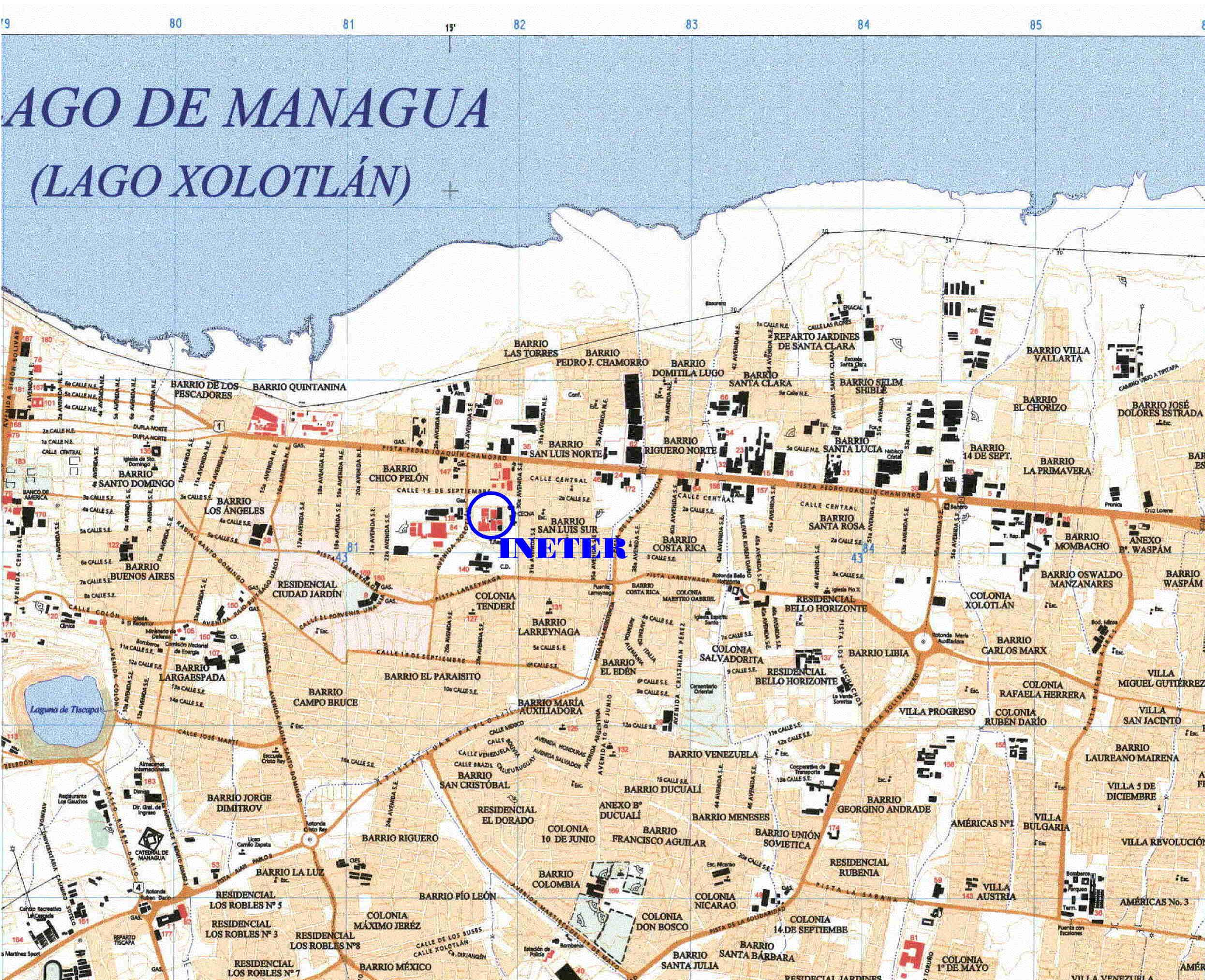 Managua Map | Maps Managua Map